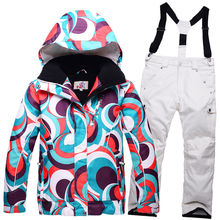 ski Brands High quality New Children skiing Clothing Girl or Boy ski suit sets outdoor ski Snowboard Snow jacket + bib pant