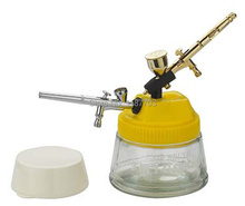 Airbrush Cleaning 3 in 1 Cleaning Pot with Holder  Color Palette Lid For Body Paint