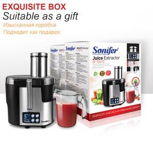 Image 5 - Machine à boire électrique de Fruit dextracteur de jus de laffichage 220V daffichage à cristaux liquides de presse agrumes dacier inoxydable de 5 vitesses pour le Sonifer à la maison