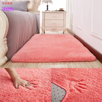 Nordic Solid Pile Carpet Rug for Living Room Large Size Anti-Slip Bedroom Soft Carpets Home textile Mats tapete para sala 200*40