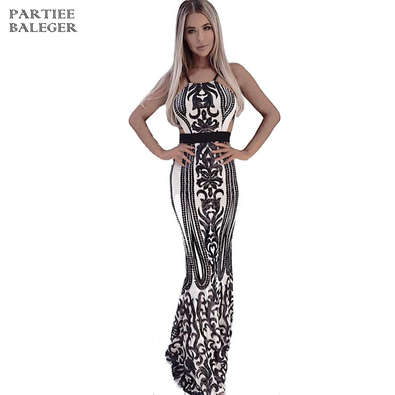 Cut Taille Parti Maxi Celebrity Soirée Arrivée Mode Longue De Robe Nouvelle Out Noir Halter 2019 Élégante Sexy Paillettes Embelli F16vZxzq