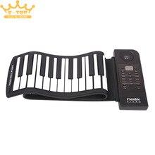 PU61S Flexible Digital Display 61Keys 128 Tones 128 Rhythms Children Toys Electronic Roll Up Piano Built-in Speaker