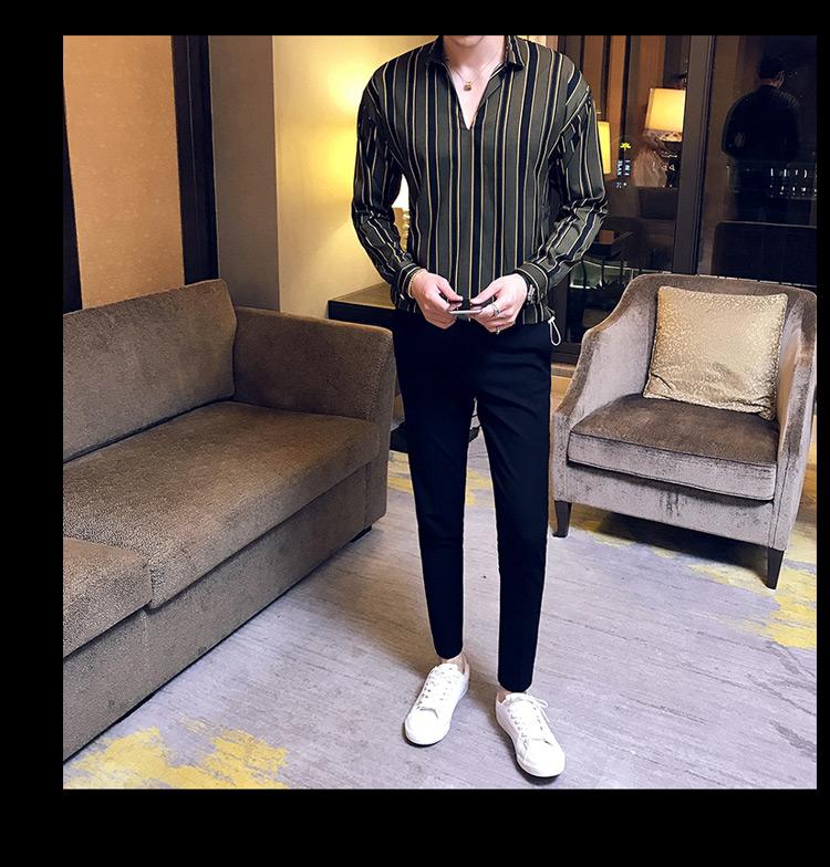 d4efc0ee1c Camicia da uomo a vita alta con elastico in vita e pullover manica lunga  cs31 / 45 Prezzo scontato 75