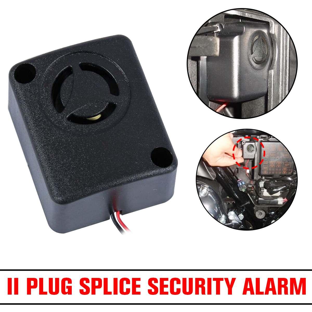 NEW 1pcs Mini 120dB Alarm Motorcycle Alarm Piezo Wired Rohs 12V Black Continuous Sound Alarm