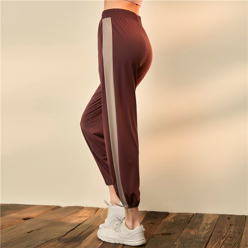 Sports Pants Women Quick Dry Yoga Pants Splicing High Waist Elastic Sport Trousers Exercise Fitness Running Jogging Workout Pant in Yoga Pants from Sports Entertainment