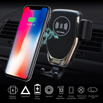 Car Mount Qi Wireless Charger For iPhone XS Max X XR 8 Fast Wireless Charging Car Phone Holder For Samsung Note 9 S9 S8