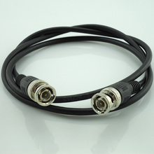 1 Pc Wholesale 1 Meter 3 Feet Length Rg59 Coax Coaxial Cable Bnc Male Connector To Bnc Connector Male Cctv Cable Accessories
