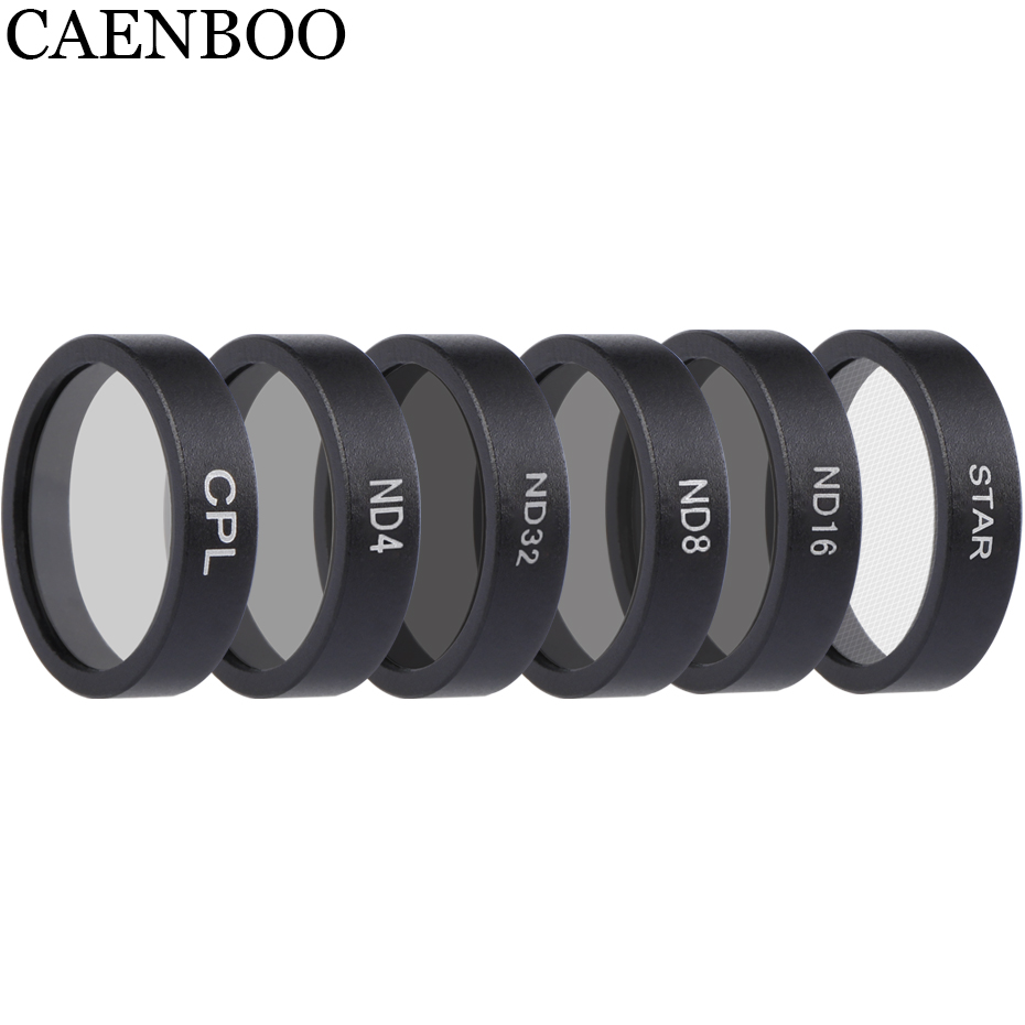 CAENBOO Drone Filters ND4 8 16 32 Neutral Density CPL Polar Lens Filter Set Protector For