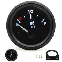 """"""" 52 мм датчик уровня топлива автомобильный измеритель белый светодиодный светильник черный обод Автомобильная панель приборов 12 В"""