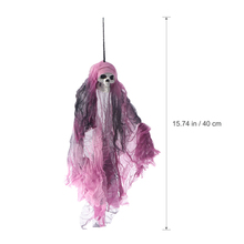 Spooky Human Hanging Gauze Skull For Haunted House