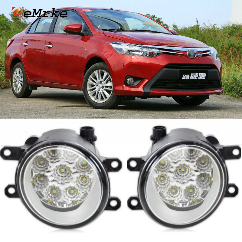 3 Color Flow Effect Led Fog Light Lamp Assembly For Toyota Vios Z2af076 2017 Automobiles & Motorcycles