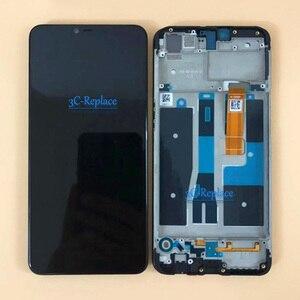 Image 2 - 100% testado preto 6.2 polegada para oppo a3s display lcd completo tela de toque digitador assembléia substituição com quadro para oppo a2 pro