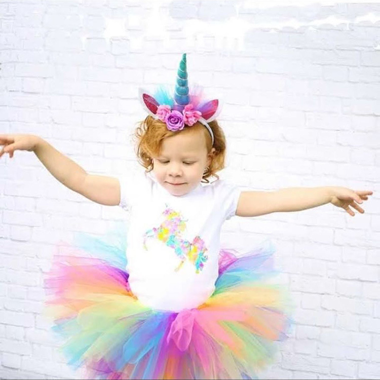 1PC Pony Ear Hairband Unicorn Horn Headband Halloween Hair Band Christmas Headwear Kids Birthday Party Gift Hair Accessories 12pc set elastic hair rubber band children hair unicorn headband kids hair accessories gril hair band set cute unicorn cartoon