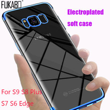 Plating Protective case For Samsung Galaxy S8 S9 Plus Note 9 8 S6 S7 Edge A5 2017 protection cover For A8 A7 J7 J5 TPU soft Case(China)