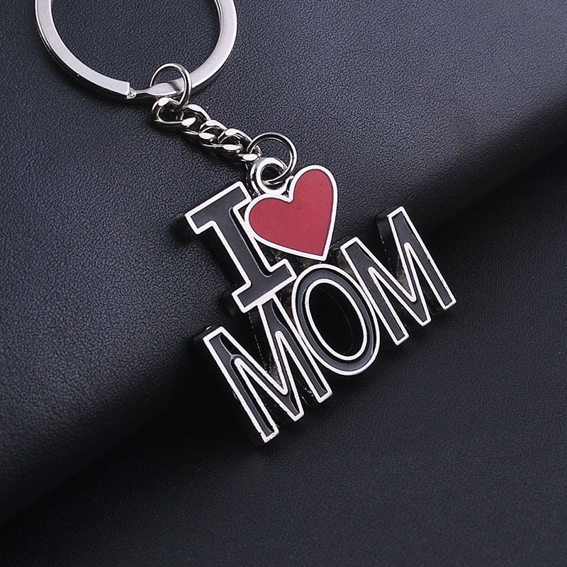 Red Key Rings Images Fashion I Love Mom Papa Heart Keyrings Keychain Family Party Jpg