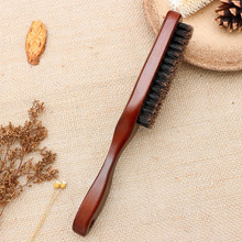 Wood Handle Boar Bristle Cleaning Brush Hairdressing Men Beard Brush Anti Static Barber Hair Styling Comb Shaving Tools