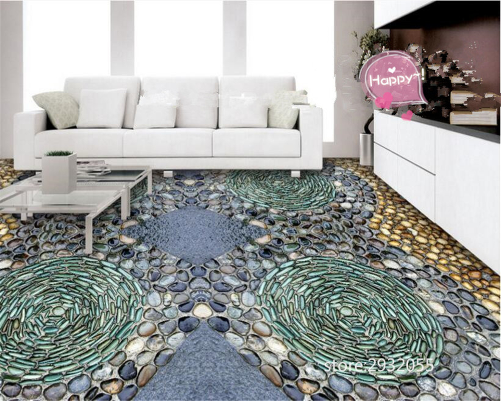 beibehang 3d flooring wallpaper for walls 3 d Classic fashion wallpaper wall paper 3D stone floor tiles papel de parede tapety in Wallpapers from Home Improvement