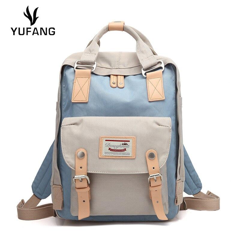 Yufang Women Backpack Waterproof Oxford Female Shoulder Bag Candy Ladies School Bag Multifunction Women Bag Laptop Backpack