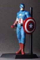 Classic Marvel The Avenger Superhero Captain America Steven Steve Rogers Crazy Toys 23CM Figure Toys New Box
