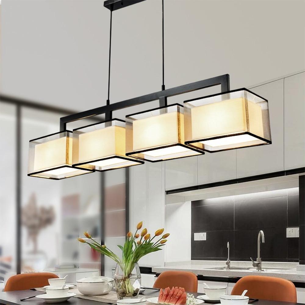 HGhomeart Modern Minimalist Rectangular Chandelier Nordic Light 110v 220v Luminarias Suspension Luminaire E27 Ceiling Lights