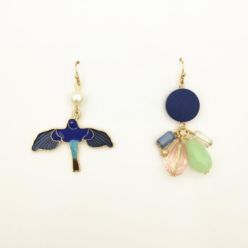 New Fashion Fashion bird animal wood tassel earrings elegant literary wild earrings retro popular female Earrings