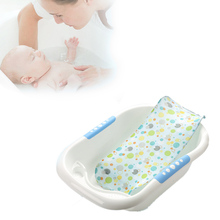 hot deal buy 1 pcs quality summer newborn baby bath seat net bed cushion pillow pad support accessories for baby tub safety product baby care