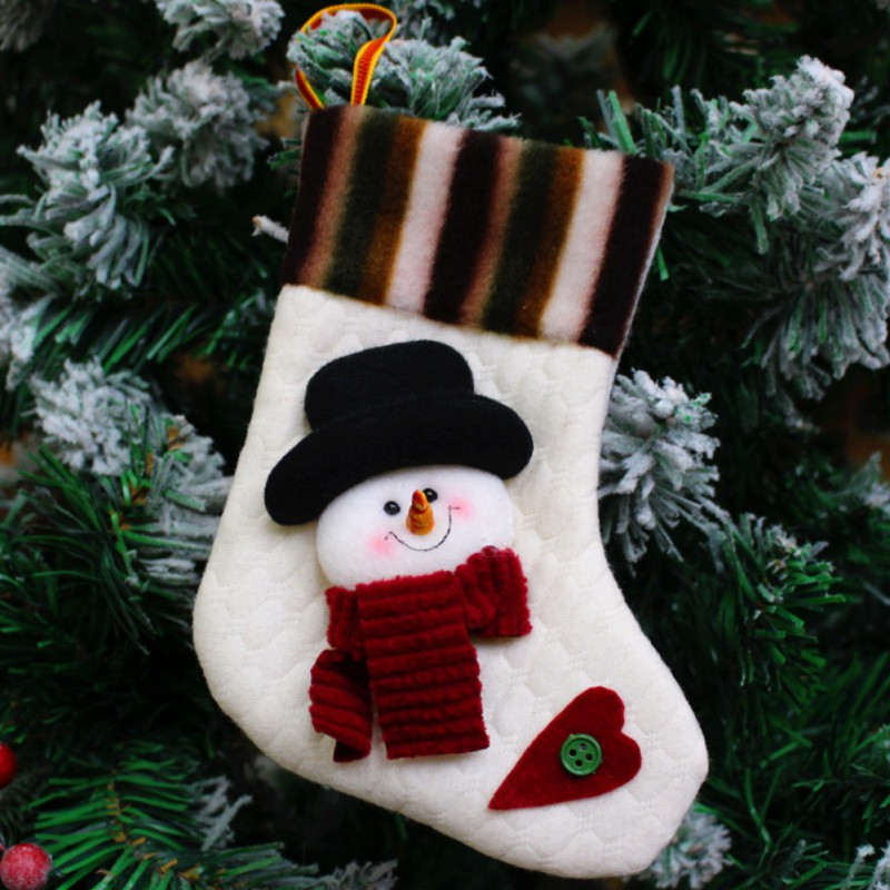 New Year Candy Bag Stocking Hanging Christmas Tree Decoration Christmas Ornament Mini Christams Stockings