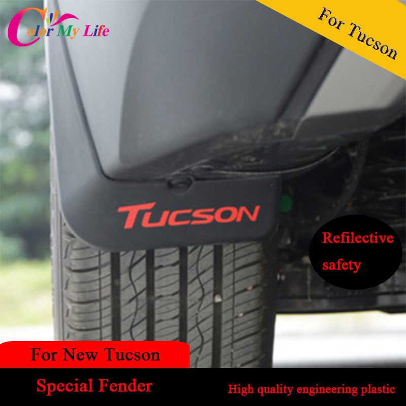 4 stk / sett ABS utvendig bil Mudguard Splash Fender For Tucson 2015 Splash Mud Protection Mudguards For Hyundai For Tucson 2016