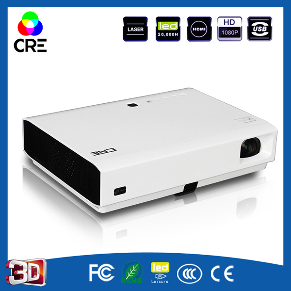 DLP Short Throw 3D Education bussiness Projector With with USB media reader function and wifi capability