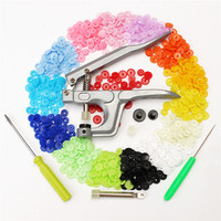 Button Fastener Snap Pliers 150Set Colorful T5 Snap Plastic Buttons For Clothes Durable Quality