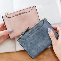 Fashion Zipper Hasp Purse Women Short Wallet Female Tassel Coin Purse Bag Brand Designed Ladies Clutch