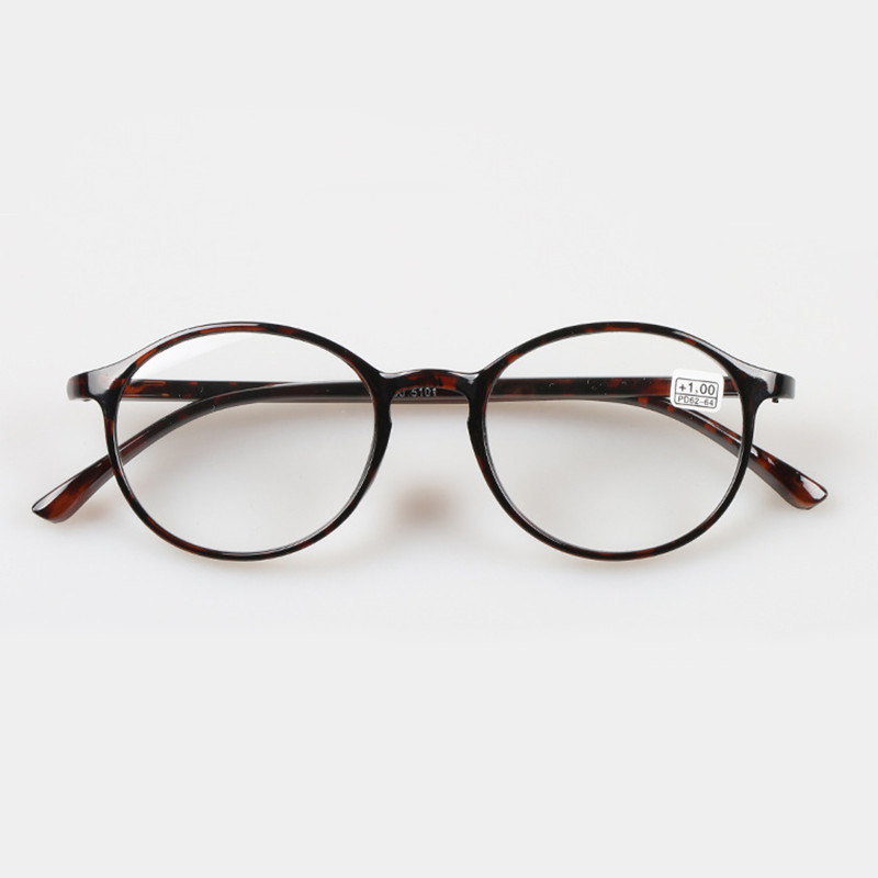 TR90 Women Men Round Black Leopard Lunettes Presbyopia Strength 1.0 1.5 2.0 2.5 3.0 Reading Glasses eyeglasses 004