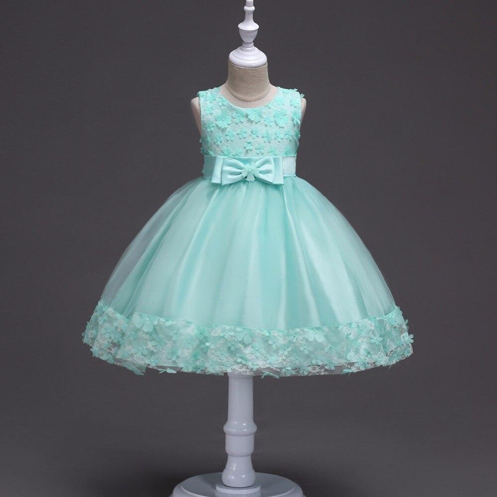 Recién Nacidos vestido de encaje niña de las flores vestido de novia ...