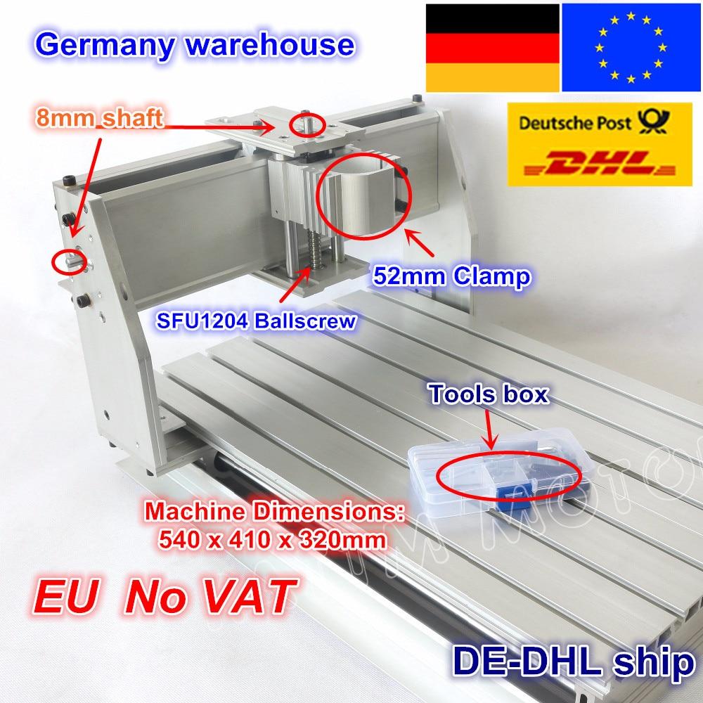From EU free VAT 3040 CNC router milling machine mechanical ball screw kit CNC aluminium alloy