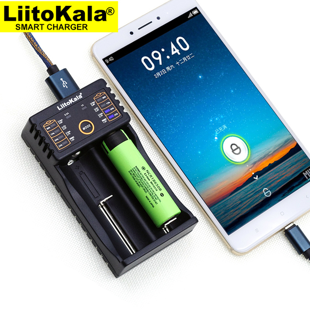 Liitokala Lii 202 batterij lader, opladen 18650 1.2 V 3.7 V 3.2 V AA/AAA 26650 10440 14500 16340 25500 NiMH lithium batterij