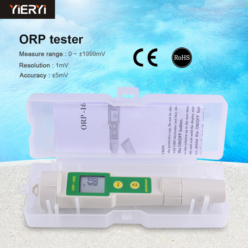Portable Pen ORP Meter Redox Potential Tester Negative Potential Pen Tester ORP Meter with Plastic Box Packaging portable pen orp meter redox potential tester negative potential pen tester orp meter