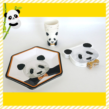 hot deal buy 80pcs panda birthday party tableware set cartoon bamboo drinking straws panda balloons cup napkins cupcake topper event party