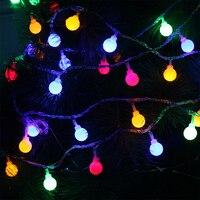 10M 100Leds Christmas Tree Garland String Ball Curtain Fairy Holiday Festival Lights EU Plug 220V