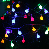10M 100Leds Christmas Tree Garland String Ball Curtain Fairy Holiday Festival Lights EU Plug 220V