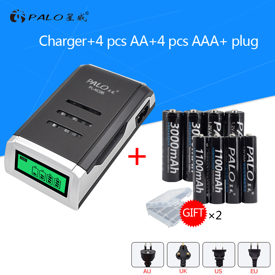 4PCS 1.2 V NI-MH aa rechargeable batteries + 4PCS 1.2 V aaa rechargeable Batteries + a smart intelligent Battery Charger sides zipper mens hoodie