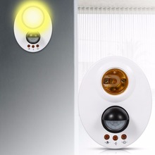 PIR Motion Switch Detector 110V 220V E27 LED Bulb Base Infrared IR Sensor Automatic Wall Light Lamp Holder Socket