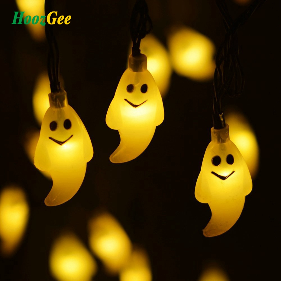 HoozGee Solar String Lights Outdoor Garden 30 LED Ghost 6M Fairy Lamp Halloween Holiday Decor Dream Fairy Lamp Lighting