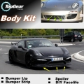 For Porsche Cayman 987 987C 981 981C Bumper Lip Lips / Top Gear Shop Spoiler For Car Tuning / TOPGEAR Body Kit + Strip