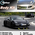 Para Porsche Cayman 987 987C 981 981C parachoques labios Lip / Top Gear Shop Spoiler Tuning / TOPGEAR cuerpo Kit + tira