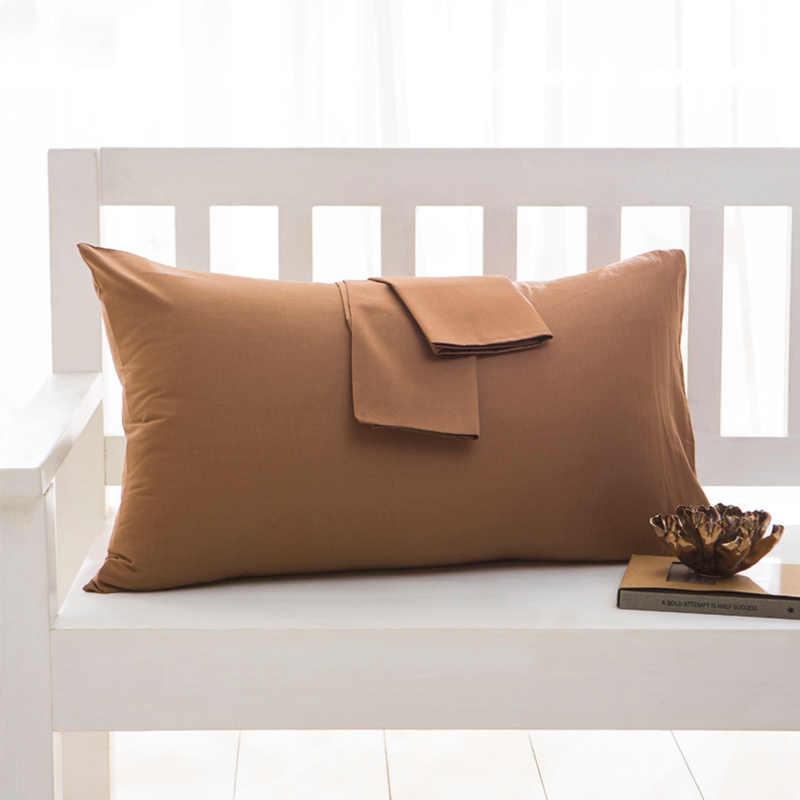 Home 100% Cotton Solid Color Pillowcase 40*60cm 50*70cm 50*75cm 50*90cm Size Pillow Case Rectangle Soft Decorative Pillow Covers