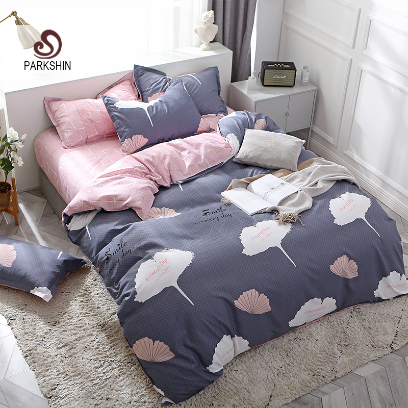 ParkShin Nordic Bedding Set Double Queen King Size Duvet Cover Set Flat Sheet Bed Linen Euro Set Pillowcase Bedclothes Textiles in Bedding Sets from Home Garden