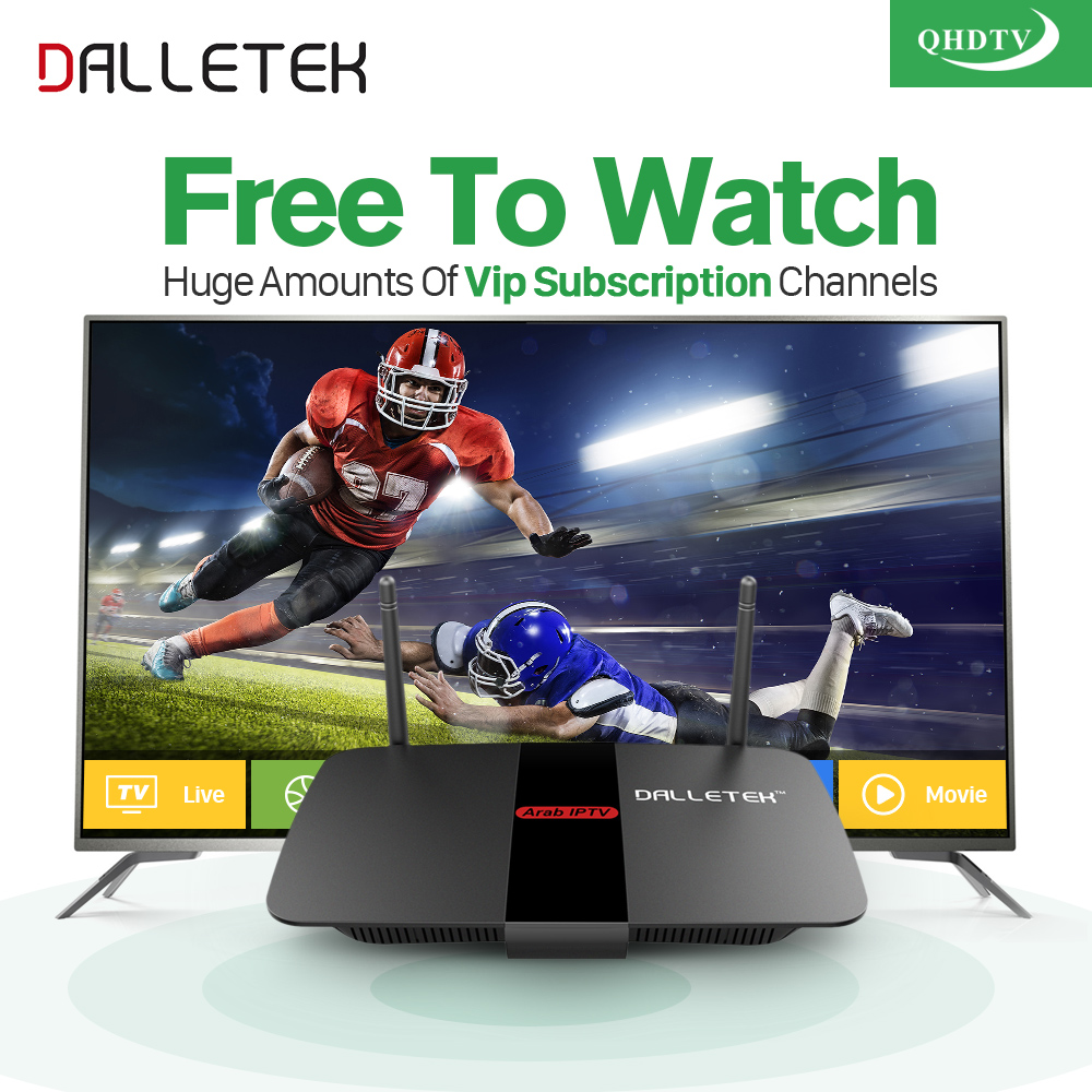 Dalletektv IPTV Arabic Europe Android TV Box Iptv Subscription 1 Year QHDTV Code Abonnement French Germany Turkish IPTV Top Box