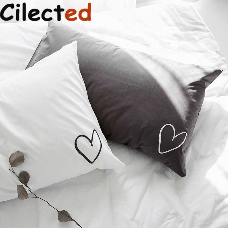 Couple White Pillow Cases Sweet Dreams Pillow Covers 100/% Cotton Wedding