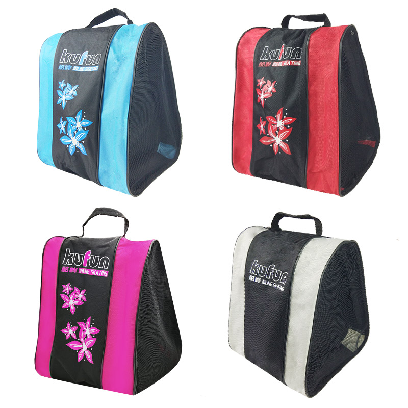 KUFUN Inline Skates Backpack Bag Roller Skates Shoes Backpack Bag Rollerblade Backpack Bag Adult Knapsack Shoulder Bag 4 Colors