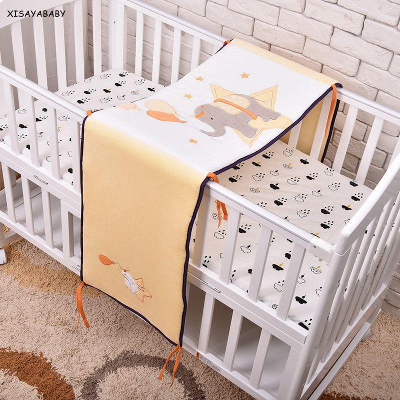 Nouveau lit de bébé doux pare-chocs bébé lit de Protection lit respirant autour de coussin bébé pare-chocs dans le berceau éléphant 40*180 cm